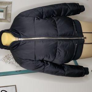 TopShop heavy winter coat black puffer / bomber style